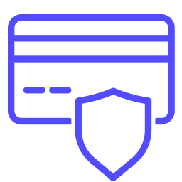 A thin line icon of payment security